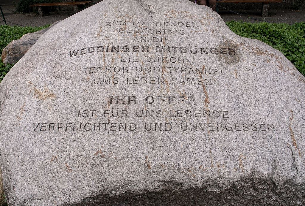 Gedenkstein Müllerstraße E. Elfert